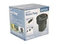 Compact Intex Quick Fill Electric Pump with 3 Interc.Nozzles (inflate swimming pool)