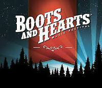 Boots and Hearts Full Weekend Passes - 4 tickets available