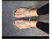 Worn sandals head over heels size 4