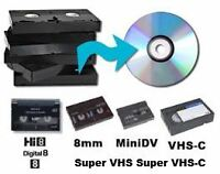 Transfer your VHS, Hi8 & other to DVD $7 / 2hr tape