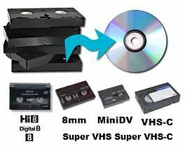 Transfer your VHS, Hi8 & other to DVD $8 / 2hr tape