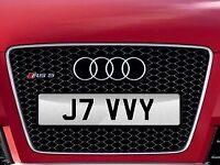 Private / Cherished Number Plate - J7 VVY - Javid, Javi, Jamy,