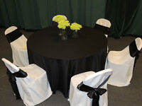 White Chair Covers for Folding chair--only .75 cents to rent