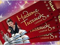2 TICKETS FOR MADAME TUSSAUDS SUNDAY 18TH FEBRUARY 2018 18/02/18