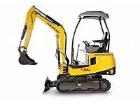 Mini Digger Hire - With Or Without Driver