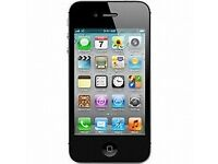 black iphone 4 , locked to EE 16 GB