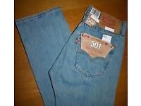 Levis 501 jeans 34waist 34 leg(brand new)2 pairs-both for £45