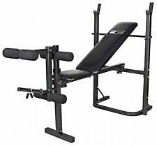PROFITNESS STRENGTH TRAINING BENCH WITH 70KG VINYL WEIGHTS BAR AND DUMBELLS