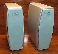 AIWA (SX-LX7) Pair of Tall Bookshelf Stereo Speakers w/ Feet