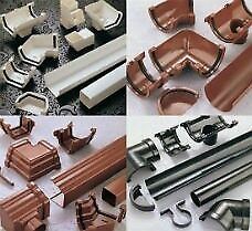 Brett Martin Guttering, Down pipes and Fittings Arctic White, Brown, Black, Grey, Anthracite 7016