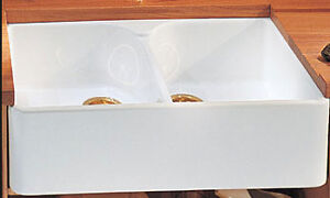 sale on fire clay white 30 inch single bowl apron sink