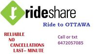 Ride to OTTAWA! Everyday 10.30am & 6pm from Yorkdale & STC