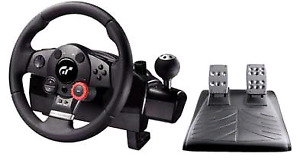 Logitech driving force ps3 and PC racing wheel and pedals