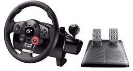 LOGITECH DRIVING FORCE GT STEERING WHEEL PS3, PC