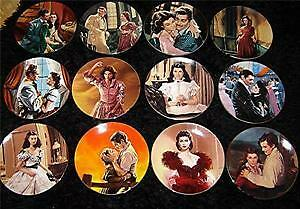 Gone With The Wind Passions/Scarlett O' Hara Plates - Complete