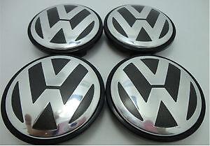 VW, VOLKSWAGEN, 4 Pc Center Hub Cap for Alloy Rim 65MM & 70MM