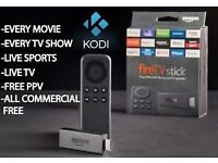 Amazon fire tv stick - Fully loaded with Kodi. Free movies, live sports, TV shows and music