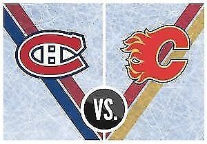 Canadiens vs Flames - Tonight. Great view!!