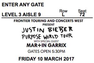 Justin Bieber Melbourne Concert !! With Martin Garrix Melbourne CBD Melbourne City Preview