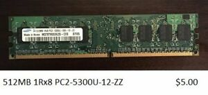 Various PC2 and PC3 Memory