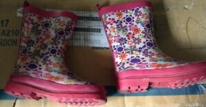 New condition girls rubber boots for sale