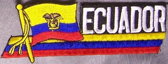 Embroidered International Patch National Flag of Ecuador NEW streamer