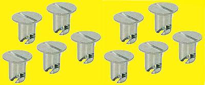 Quick Turn Flush Head Button Buttons 716 500in 10 pk Aluminum Dzus Fastner