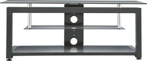 "TV STAND FOR MOST FLAT-PANEL TVS UP TO 55"" - BLACK - ANGLE"