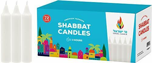 Shabbat Candles - 72 White Taper Candles - Shabbos Candles b