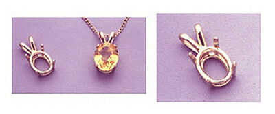 14kt White Or Yellow Gold Oval Cast Wire Pendant Casting ...
