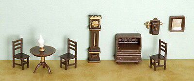"Miniature Dollhouse FAIRY GARDEN Furniture ~ ¼"" Micro Mini 9 Pce Living Room Set for sale  Shipping to Canada"