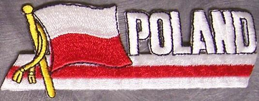 Embroidered International Patch National Flag of Poland NEW streamer