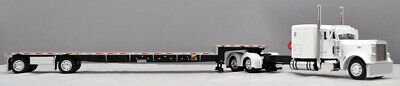 "NEW 60-0861 DCP 1/64 PETERBILT 379 60"" 320"" FRAME BLACK SILVER STEPDECK TRAILER"