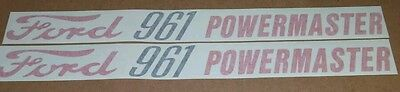 Ford 961 Powermaster Hood Decals