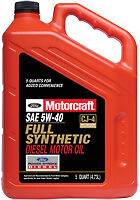 Motorcraft sae 5w 40 full synthetic diesel motor oil xo for 5 w 40 motor oil