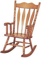 HEAVY WOODEN ROCKING CHAIR-- For Sale or May trade?