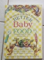 Better Baby Food book for sale