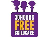 30 hours FREE childcare for working parents, 15 hours free childcare for eligible 2, 3 & 4 year olds