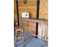 Rustic Retro Industrial Pipe Desk (Stand up or used with Stool Chair)