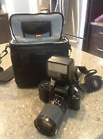 CAMERA T50 WITH CASE, FILM, EXC COND
