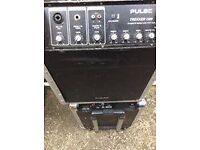 pulse trekker 350 watt busking amplifier works off frecharchable bateries or mains