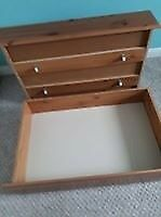 2 x under bed storage drawers with wheels
