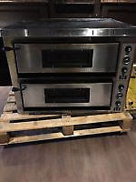 double deck pizza oven with stand