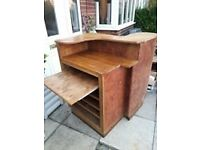 Shop/restaurant counter, excellent condition, solid wood