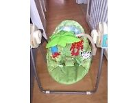 Fisher price rainforest open top swing foldable