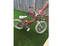 "Girls dawes lottie pink 16"" inch bike"