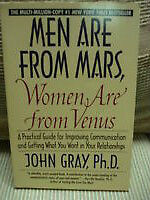 """""""Men are From Mars, Women are From Venus"""". by John Gray, PHD"""