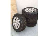 Range Rover & Land Rover Discovery Alloys + 255 55 R18 MT Off Road 4x4 Tyres x4