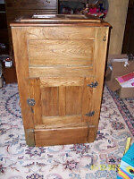 Antique solid wood icebox for sale London Ontario image 1