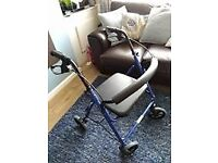 4 WHEEL ROLLATER WITH BASKET EXCELLENT CONDITION USED ONCE GENUINE REASON FOR SALE £45